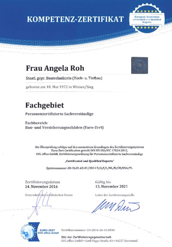 Bausachverständiger Mainz gutachterauskunft sachverständigenbüro angela roh für mainz