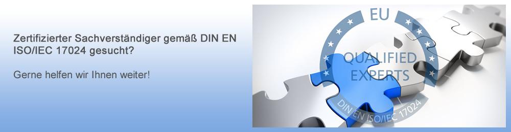 Baugutachter, Schimmelgutachter, Schmuckgutachter, etc. mit Zertifizierung gemäß DIN EN ISO/IEC 17024
